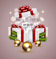 cHRISTMAS CARD and gift box vector image vector image