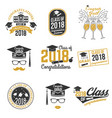 class of 2018 badge vector image vector image