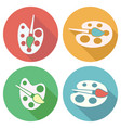 collection of flat palette icons vector image vector image
