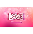 convex paper inscription love cut on a pink vector image vector image