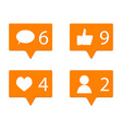 counter in social networks vector image