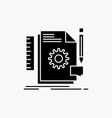creative design develop feedback support glyph vector image vector image