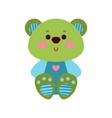 cute cartoon teddy bear animal toy colorful vector image vector image