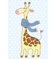 Cute happy Giraffe with a scarf vector image
