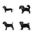 dog animal domestic and other web icon in black vector image vector image