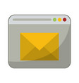 email sending website symbol vector image vector image