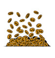 falling coins money flying gold coins vector image