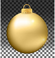 fancy christmas ball isolated on white background vector image