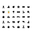 financial aid black glyph icons set on white space vector image