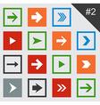 Flat arrow icons vector image vector image