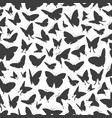 flying butterflies silhouettes seamless pattern vector image