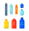 gas cylinders set vector image vector image