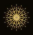 golden glittering snowflake vector image vector image