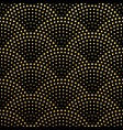 golden scales seamless pattern background vector image