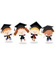 Graduated kids vector | Price: 3 Credits (USD $3)