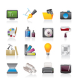 Graphic and website design icons vector image vector image