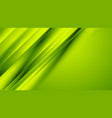 green smooth diagonal stripes abstract background vector image vector image