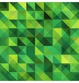 Green triangular grid pattern vector image vector image