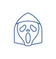 grim reaper emoji line icon concept grim reaper vector image vector image