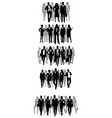 groups businessmen silhouettes vector image vector image