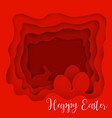 happy easter greeting card paper art style vector image