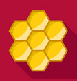 honeycomb icon flat style vector image