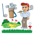 image with golf theme 6 vector image