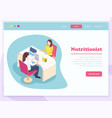 isometric nutritionist landing page vector image