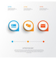 job icons set collection of envelope payment vector image vector image