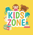 kids zone banner design kids zone banner design vector image vector image