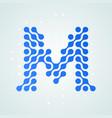 letter m logo halftone icon vector image vector image