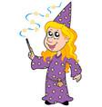 little wizard girl vector image