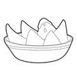 melon with cream icon outline style vector image vector image
