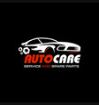 modern sport car logo with red color