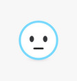 neutral face normal customer review and emotional vector image vector image