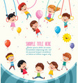 of children background vector image vector image