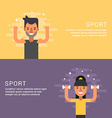 People Sport Concept Fitness Male and Female vector image vector image