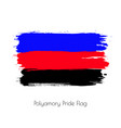 polyamory lgbt watercolor flag vector image vector image