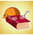 Pperfect break at work with a book vector image