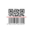 qr and barcode mixwd scanning scan me concept vector image vector image