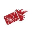 Red grunge hot letter logo vector image vector image