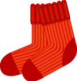 red sock vector image vector image
