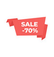 ribbons and banners sale price tag realistic vector image vector image