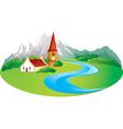 Rural landscape vector image