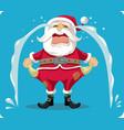 sad crying santa with empty pockets cartoon vector image vector image
