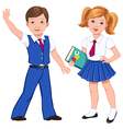 school boy girl book vector image