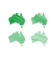 scribble australia map vector image