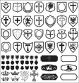 Shields and cross heraldy set