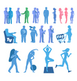 Sport and physical inactivity silouete set Good vector image vector image
