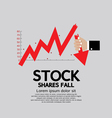 Stock Shares Fall Down Concept vector image